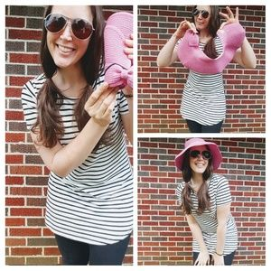 Foldable Pink Floppy Beach Hat